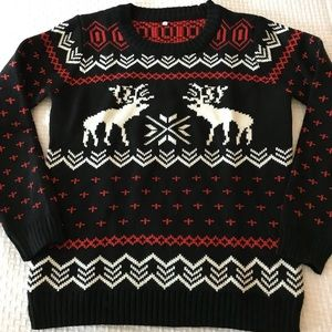 """Sweaters - Reindeer """"Ugly"""" Christmas / Holiday Sweater"""